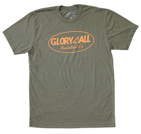 Oval Statement Tee - Military Green