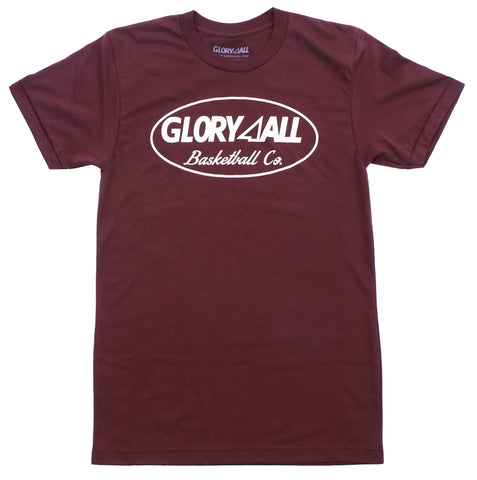 Oval Statement Tee - Maroon (Truffle)