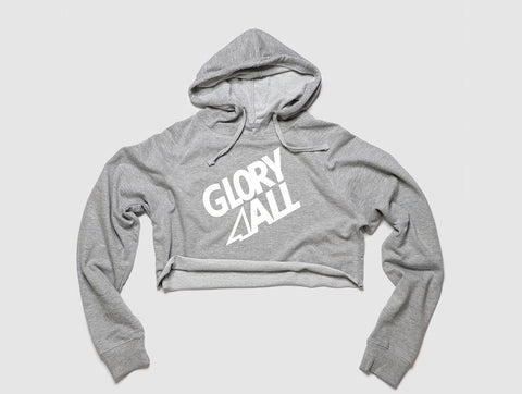 The FT Crop Hoodie - Heather gray
