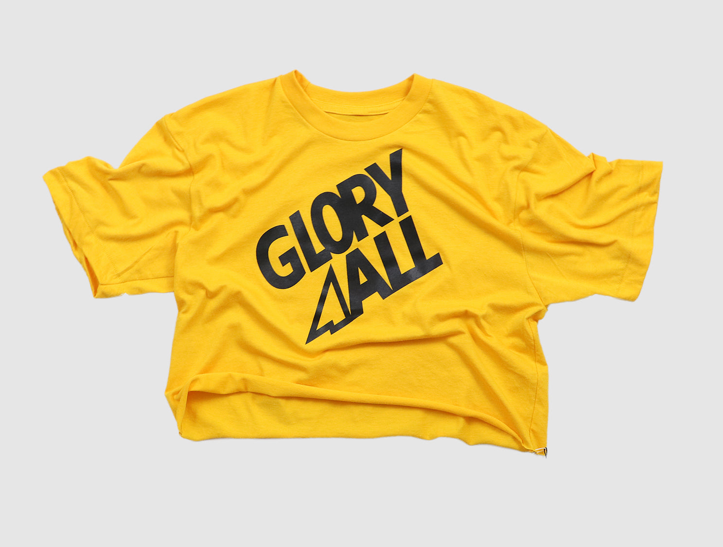 The G2 CROP TEE - GOLD