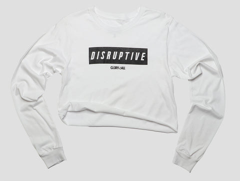 Disruptive long sleeve Tee - White
