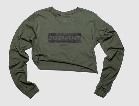 Disruptive long sleeve Tee - Military Green
