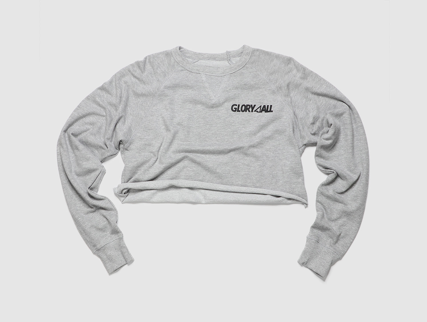The FT Crop Crewneck - Heather gray