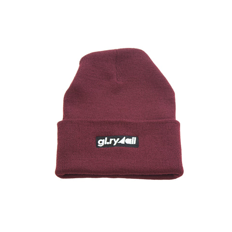 The box Logo Beanie - Maroon