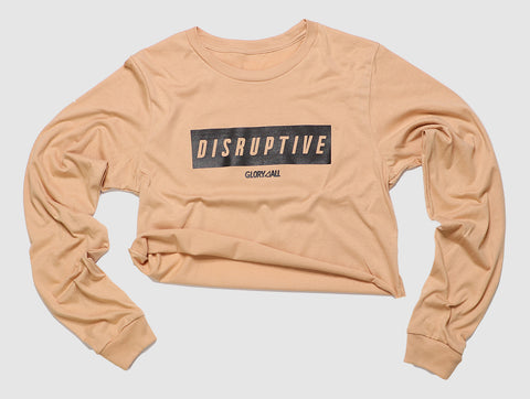 Disruptive long sleeve Tee - Sand