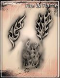 FIRE & FLAME - Tattoo Pro Stencils