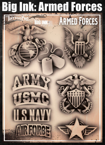 Armed Forces - Tattoo Pro Stencils