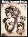 Big Ink: Japanese Geisha - Tattoo Pro Stencils
