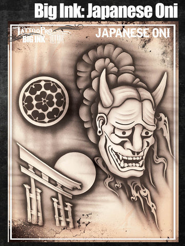 Big Ink: Japaenese Oni - Tattoo Pro Stencils