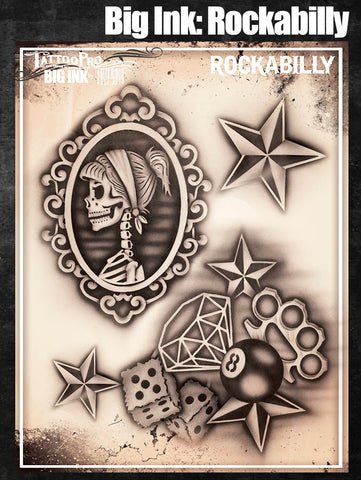 Big Ink: Rockabilly - Tattoo Pro Stencils