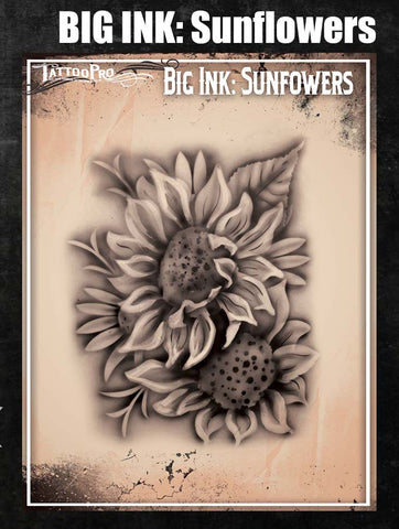 Big Ink: Sunflowers - Tattoo Pro Stencils
