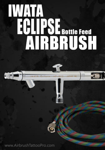 IWATA ECLIPSE BOTTLE FEED AIRBRUSH - Tattoo Pro Stencils