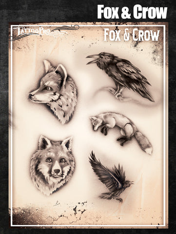 Fox & Crow - Tattoo Pro Stencils
