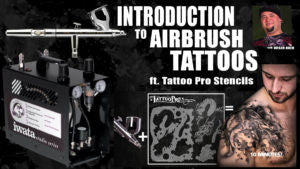 ONLINE WORKSHOP #1 - Introduction to Airbrush Tattoos ft. Tattoo Pro Stencils  - Tattoo Pro Stencils