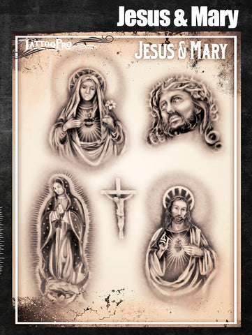 Jesus and Mary - Tattoo Pro Stencils