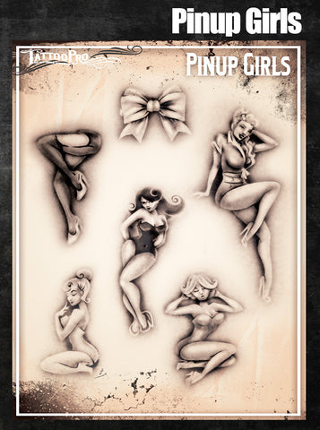 Pinup Girls - Tattoo Pro Stencils
