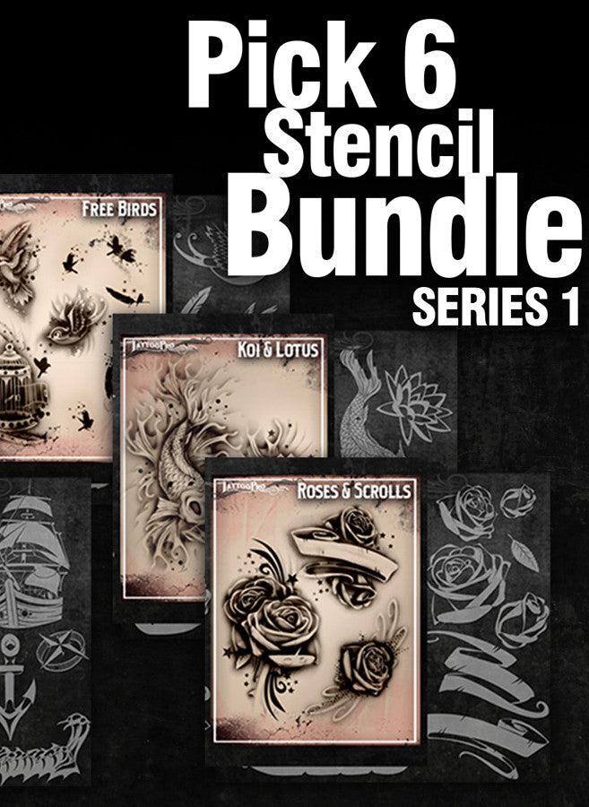 6492f8cf8 PICK SIX: SERIES 1 - Tattoo Pro Stencils