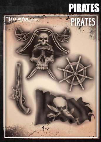 Pirates - Tattoo Pro Stencils