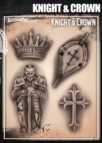 Knight & Crown - Tattoo Pro Stencils