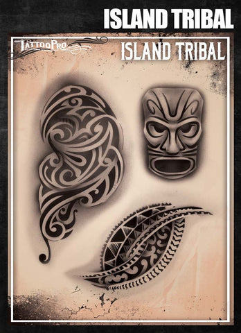 Island Tribal - Tattoo Pro Stencils