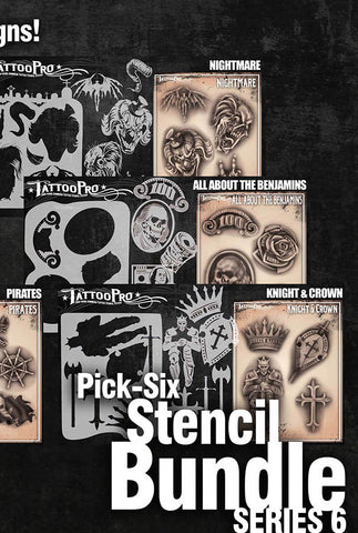 Pick Six: Series 6 - Tattoo Pro Stencils