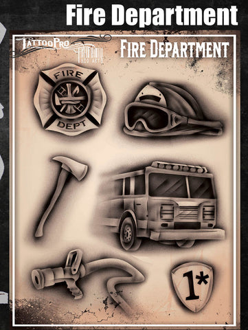 Fire Department - Tattoo Pro Stencils