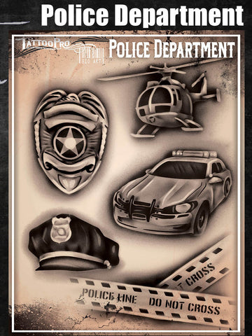 Police Department - Tattoo Pro Stencils