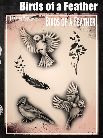 Birds of a Feather - Tattoo Pro Stencils
