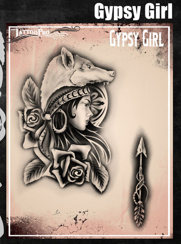 Gypsy Girl - Tattoo Pro Stencils