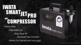 IWATA COMPRESSOR SMART JET PRO IS875 - Tattoo Pro Stencils
