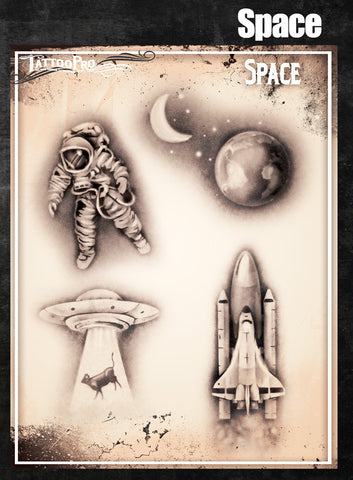Space - Tattoo Pro Stencils