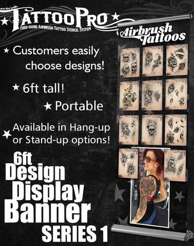 STAND UP BANNER SERIES 1 - Tattoo Pro Stencils
