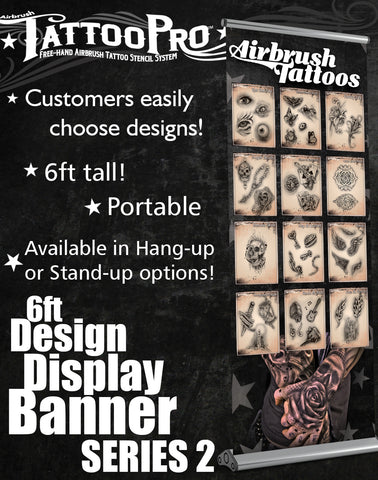 STAND UP BANNER SERIES 2 - Tattoo Pro Stencils