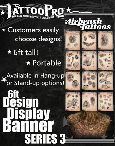 STAND UP BANNER SERIES 3 - Tattoo Pro Stencils