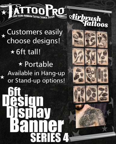STAND UP BANNER SERIES 4 - Tattoo Pro Stencils