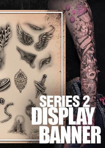 DESIGN SERIES 2 DISPLAY BANNER - Tattoo Pro Stencils