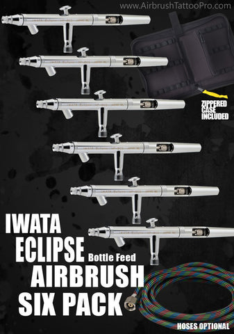 IWATA AIRBRUSHES 6 PACK - Tattoo Pro Stencils