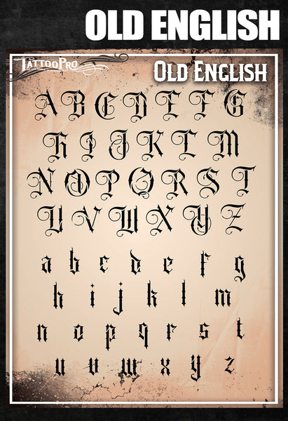 Old English Font – Tattoo Pro Stencils