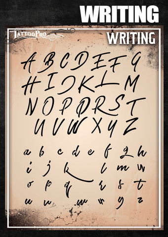 Writing Font - Tattoo Pro Stencils