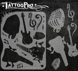ROCK AND ROLL - Tattoo Pro Stencils