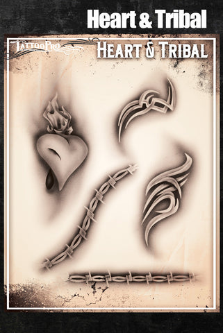 Heart & Tribal - Tattoo Pro Stencils