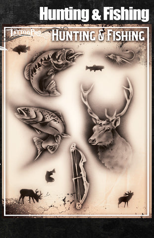 Hunting & Fishing - Tattoo Pro Stencils