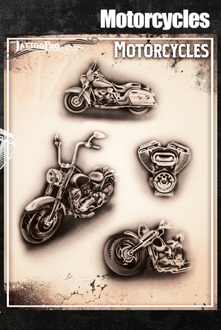 Motorcycles - Tattoo Pro Stencils
