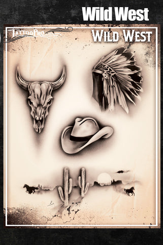 Wild West - Tattoo Pro Stencils