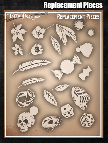 Replacement Pieces - Tattoo Pro Stencils