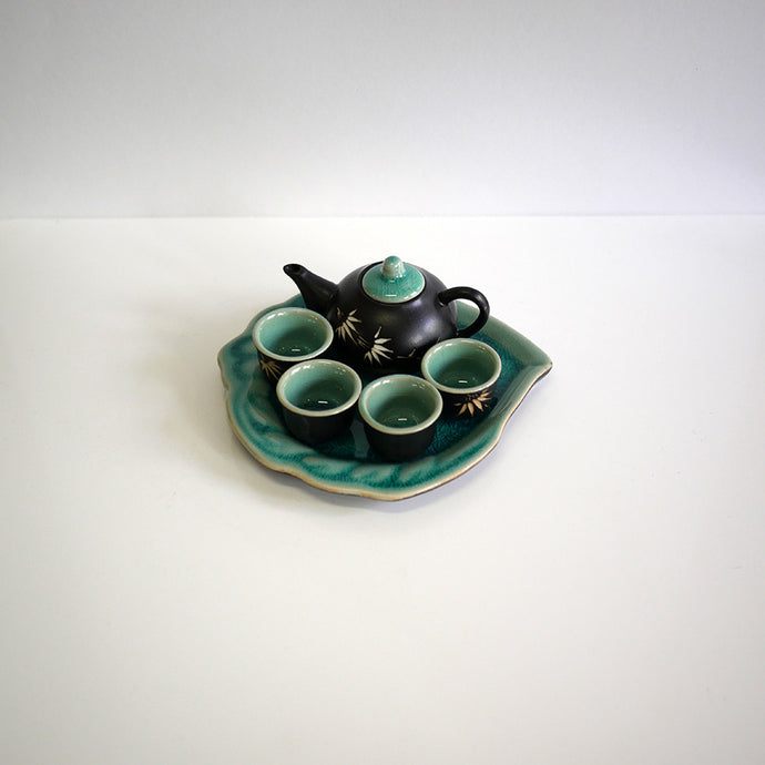 Glazed Miniature Bamboo Tea Set