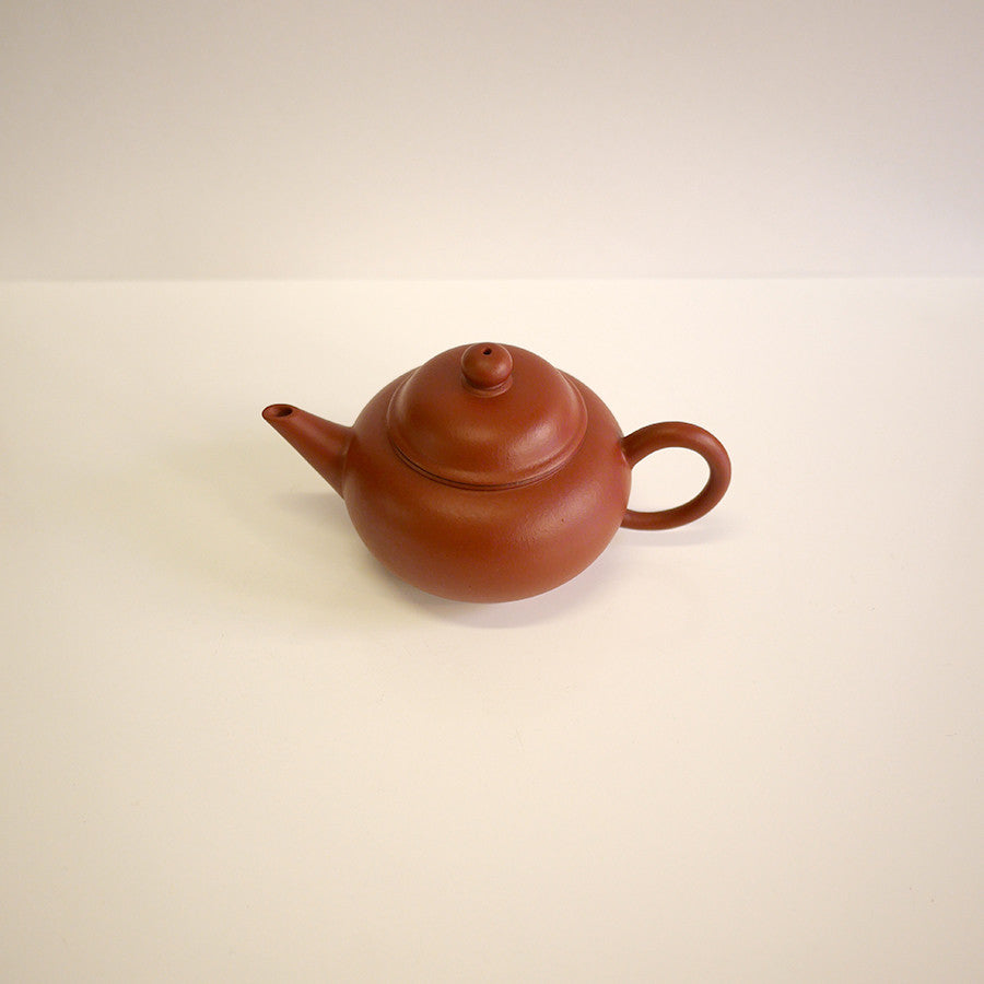 Handmade Red Clay Teapot Oval Extra Large