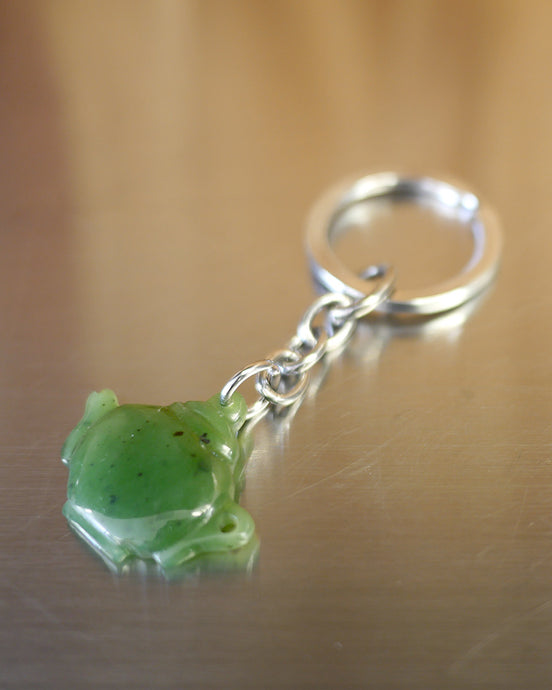 Jade Tea Pot Keychain