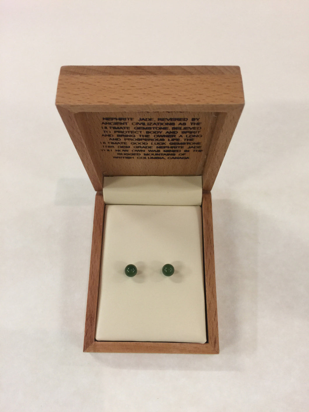 Jade Ball Stud Small