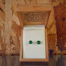 Genuine Jade Classic 8mm Ball Earrings on Sterling Silver Studs